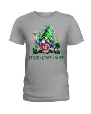 PEACE LOVE WINE Ladies T-Shirt thumbnail
