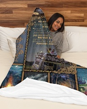 """I LOVE YOU FOREVER AND ALWAYS Large Fleece Blanket - 60"""" x 80"""" aos-coral-fleece-blanket-60x80-lifestyle-front-03"""