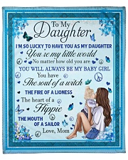"To my Daughter Quilt Fleece Blanket - 50"" x 60"" front"