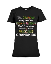This Grandma May Not Be Rich And Famous Premium Fit Ladies Tee thumbnail