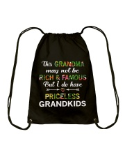 This Grandma May Not Be Rich And Famous Drawstring Bag front