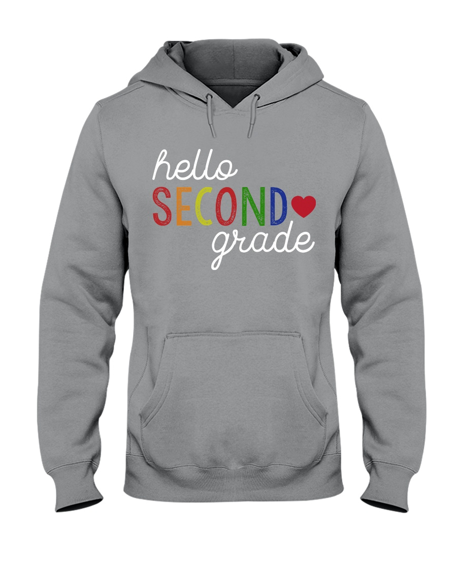 HELLO SECOND GRADE Hooded Sweatshirt