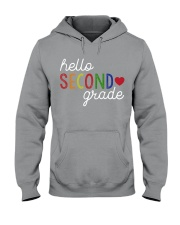 HELLO SECOND GRADE Hooded Sweatshirt front
