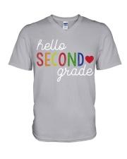 HELLO SECOND GRADE V-Neck T-Shirt thumbnail