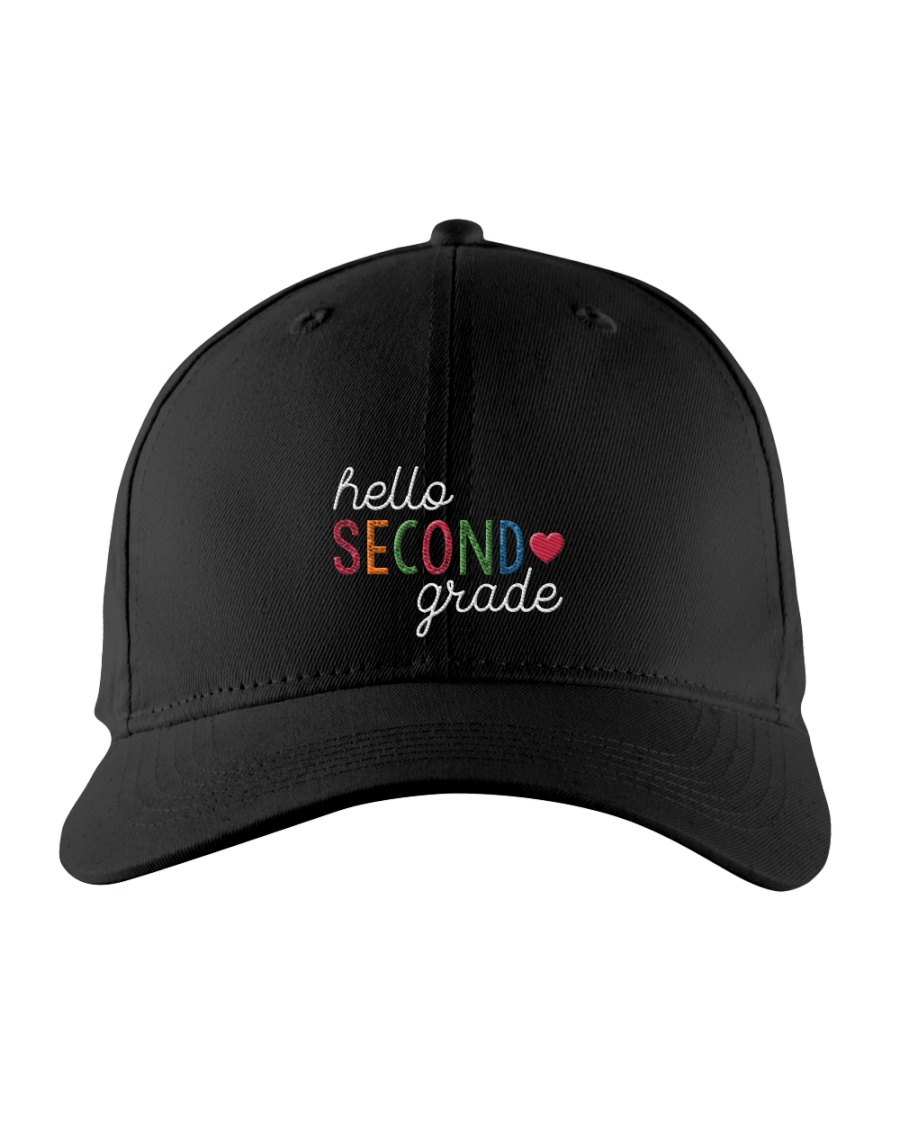 HELLO SECOND GRADE Embroidered Hat