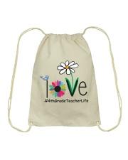 4TH GRADE TEACHER LIFE Drawstring Bag thumbnail