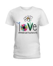4TH GRADE TEACHER LIFE Ladies T-Shirt front