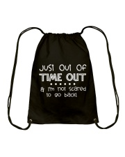 SCHOOL DAY - I'M NOT SCARED TO GO BACK Drawstring Bag thumbnail