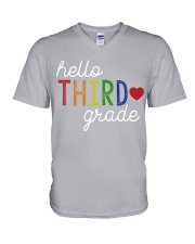 HELLO THIRD GRADE V-Neck T-Shirt thumbnail