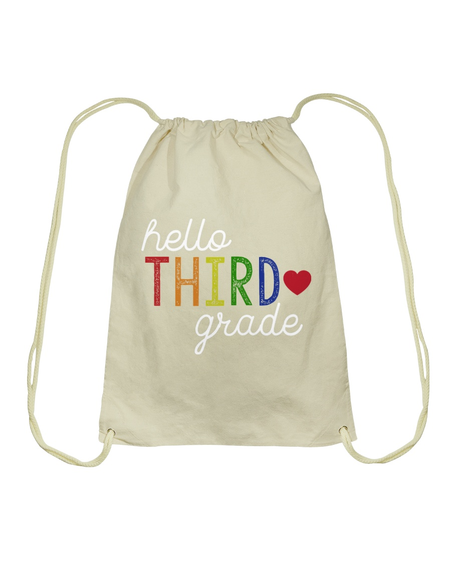 HELLO THIRD GRADE Drawstring Bag