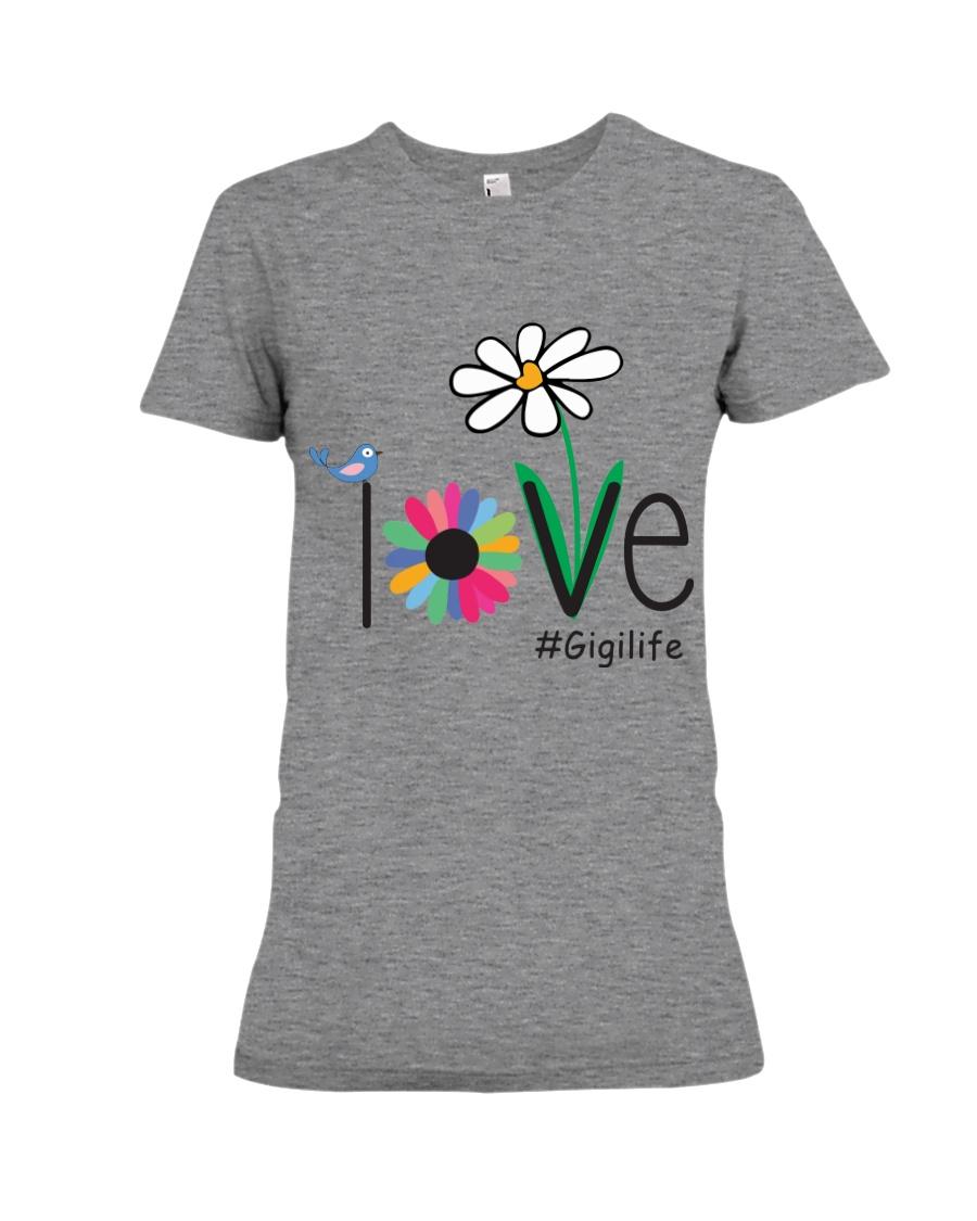 LOVE GIGI LIFE - ART Premium Fit Ladies Tee