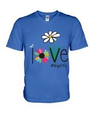LOVE GIGI LIFE - ART V-Neck T-Shirt front