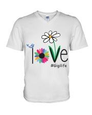 LOVE GIGI LIFE - ART V-Neck T-Shirt thumbnail