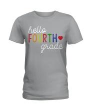 HELLO FOURTH GRADE Ladies T-Shirt thumbnail