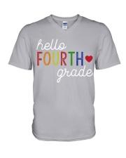 HELLO FOURTH GRADE V-Neck T-Shirt thumbnail