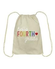 HELLO FOURTH GRADE Drawstring Bag thumbnail