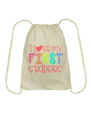 FIRST GRADERS - I LOVE YOU Drawstring Bag thumbnail