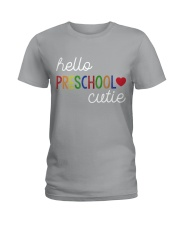 HELLO PRESCHOOL CUTIE Ladies T-Shirt front
