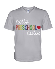 HELLO PRESCHOOL CUTIE V-Neck T-Shirt thumbnail