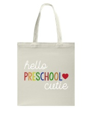 HELLO PRESCHOOL CUTIE Tote Bag thumbnail