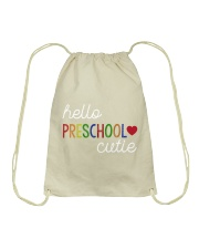 HELLO PRESCHOOL CUTIE Drawstring Bag thumbnail