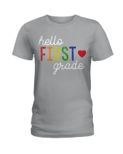 HELLO FIRST GRADE Ladies T-Shirt tile
