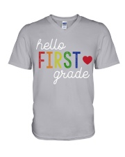 HELLO FIRST GRADE V-Neck T-Shirt tile