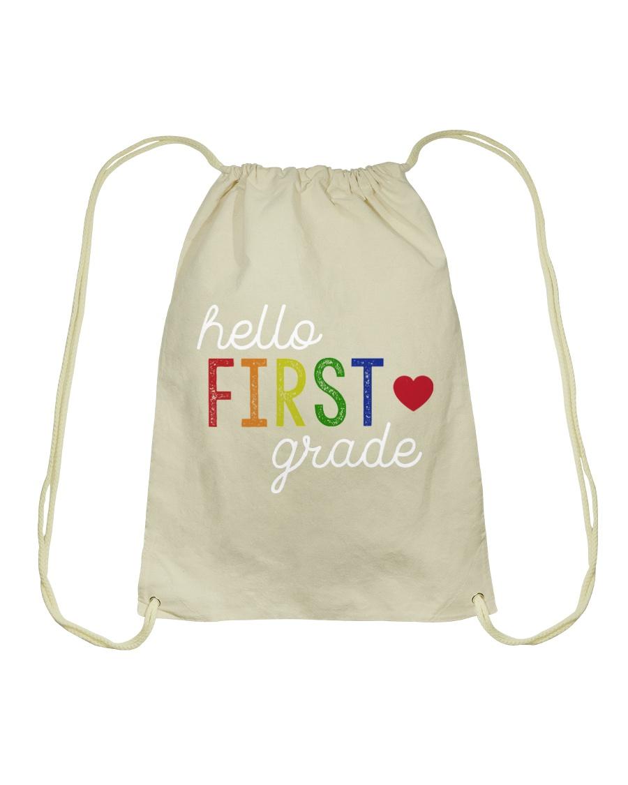 HELLO FIRST GRADE Drawstring Bag