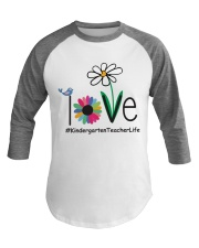 KINDERGARTEN TEACHER LIFE Baseball Tee front