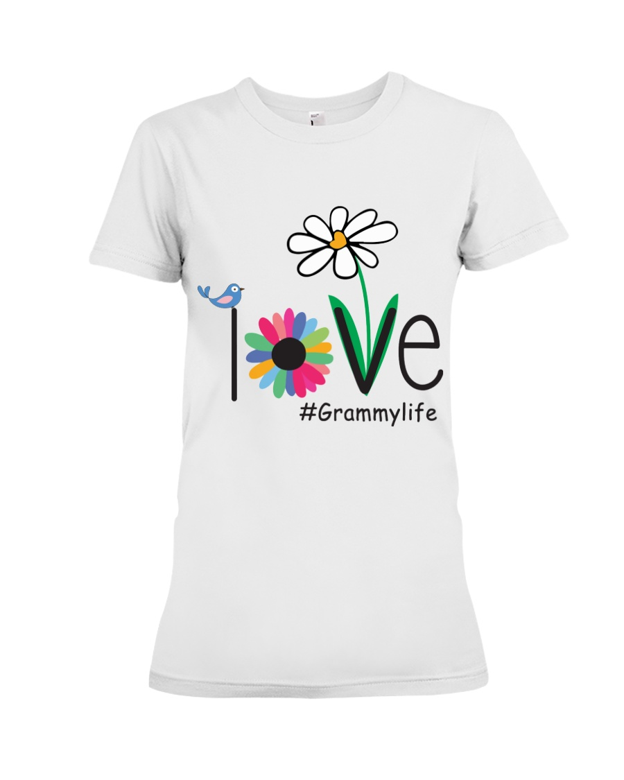 LOVE GRAMMY LIFE - ART Premium Fit Ladies Tee