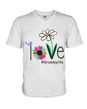 LOVE GRAMMY LIFE - ART V-Neck T-Shirt thumbnail
