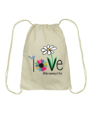 LOVE GRAMMY LIFE - ART Drawstring Bag thumbnail