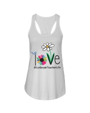 1ST GRADE TEACHER LIFE Ladies Flowy Tank tile