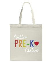 HELLO PRE-K CUTIE Tote Bag thumbnail