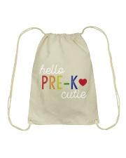 HELLO PRE-K CUTIE Drawstring Bag thumbnail