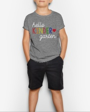 HELLO KINDER GARTEN Youth T-Shirt lifestyle-youth-tshirt-front-1