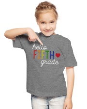 HELLO FIFTH GRADE Youth T-Shirt lifestyle-youth-tshirt-front-2