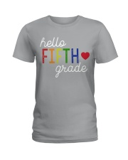 HELLO FIFTH GRADE Ladies T-Shirt tile