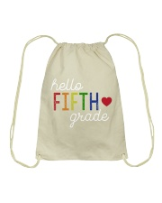HELLO FIFTH GRADE Drawstring Bag thumbnail