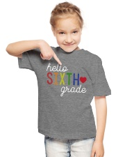 HELLO SIXTH GRADE Youth T-Shirt lifestyle-youth-tshirt-front-2