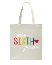HELLO SIXTH GRADE Tote Bag thumbnail