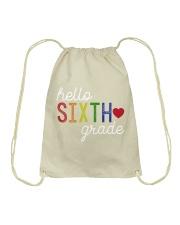 HELLO SIXTH GRADE Drawstring Bag thumbnail