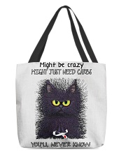 Might be crazy might just need carbs you'll never All-over Tote thumbnail