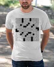 Stuffed shirt crossword clue Classic T-Shirt apparel-classic-tshirt-lifestyle-front-50
