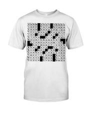 Stuffed shirt crossword clue Classic T-Shirt front