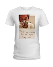 Lenin Gutierrez Thank you stay safe shirt  Ladies T-Shirt thumbnail
