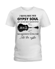 I wanna rock your gypsy soul Violon Lake shadow Ladies T-Shirt tile