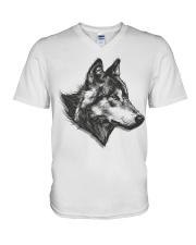 Grey Wolf V-Neck T-Shirt thumbnail