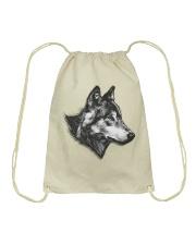 Grey Wolf Drawstring Bag thumbnail