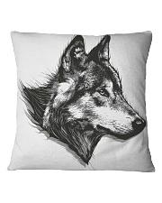 Grey Wolf Square Pillowcase thumbnail